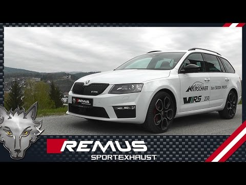 Skoda Octavia III RS 230 TSI with REMUS cat-back system