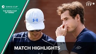 Highlights: Andy Murray/Jamie Murray (GBR) v Nicolas Mahut/Jo-Wilfried Tsonga (FRA)