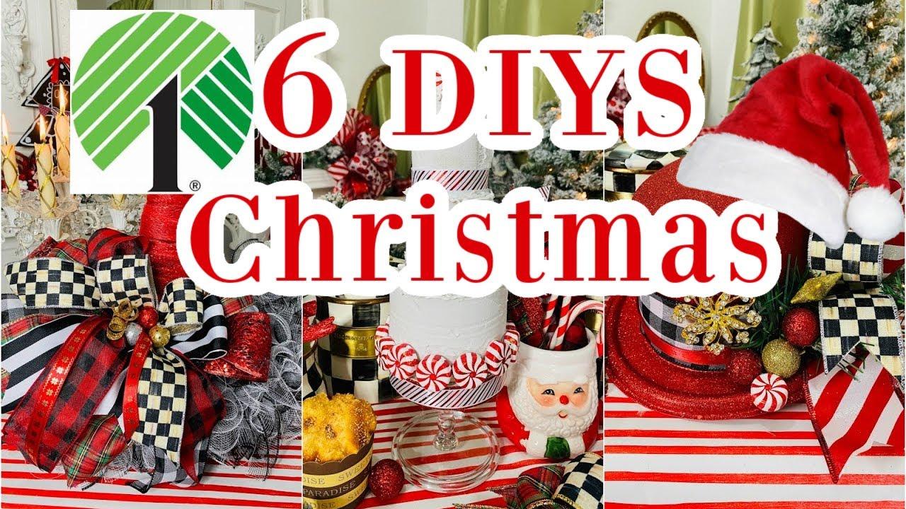 "🎄6 DIY DOLLAR TREE CHRISTMAS DECOR CRAFTS 🎄""I Love Christmas"" ep. 2 Olivia's Romantic Home DIY"