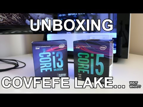 Unboxing the Intel i3-8350K and i5-8400