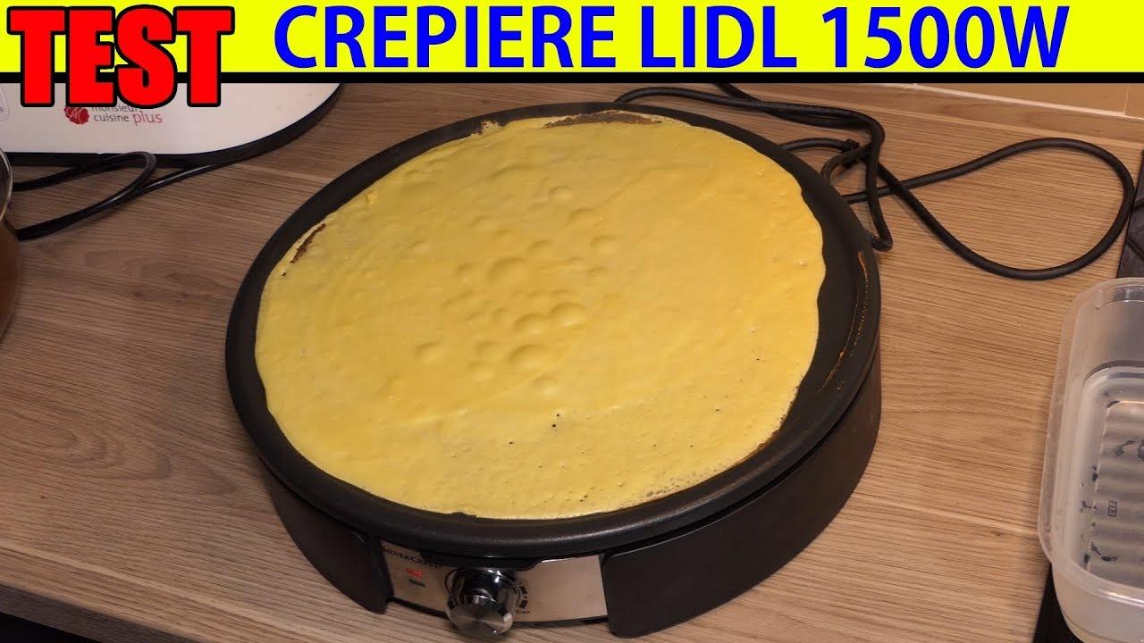 crepiere electrique lidl silvercrest scm 1500 test crepe maker crepemaker