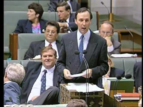 Treasurer Keating goes after the Liberal front bench.