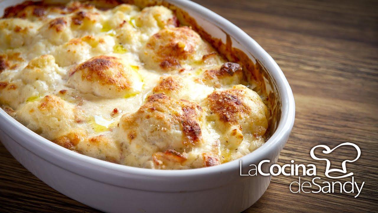 Gratin de coliflor y bechamel en recetas faciles al horno - Recetas de bogavante al horno ...