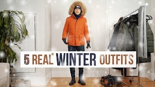 REAL Cold Winter Outfits for Men | Layering and Styling Men
