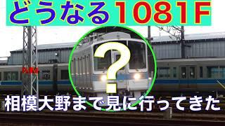 【留置中】廃車説もでている小田急1000形1081Fを大野工場まで見に行ってきた