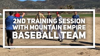 2nd Training Session With Mountain Empire Baseball Team