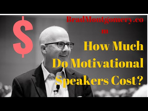 Motivational Speakers' Fees  | How much do motivational speakers cost? Rates?