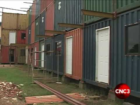 A look inside the container houses.flv