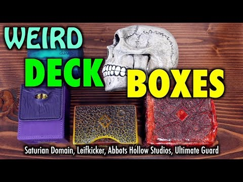 A Review of Weird and Unusual Deck Boxes for Magic: The Gathering, Pokemon and more!