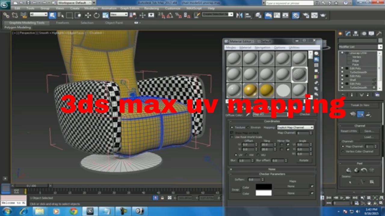3ds max uv mapping / unwrapping tutorial super fast & easy   3ds.