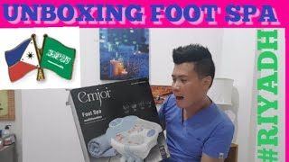 FILIPINO-SAUDI ARABIA Foot spa unboxing! Goodbye luma Welcome na bagon
