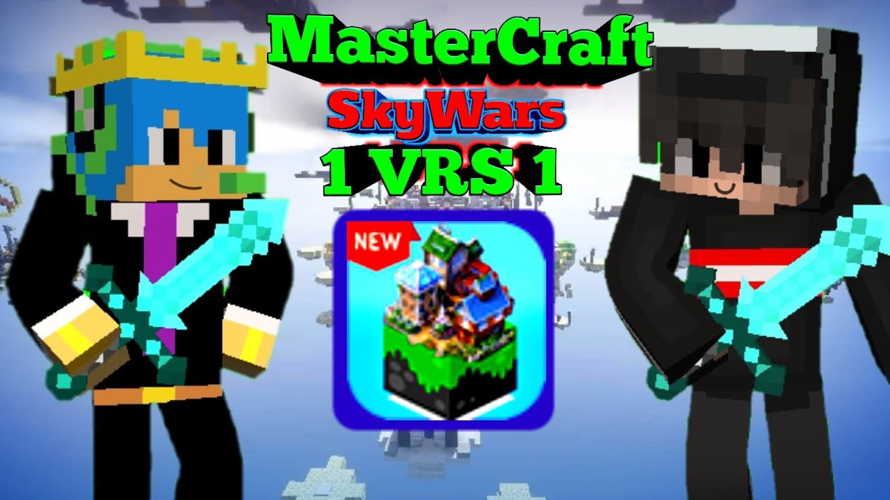 MasterCraft Skywars 1 VRS 1/ skywars en mastercraft / EPICAS batallas / youtubers