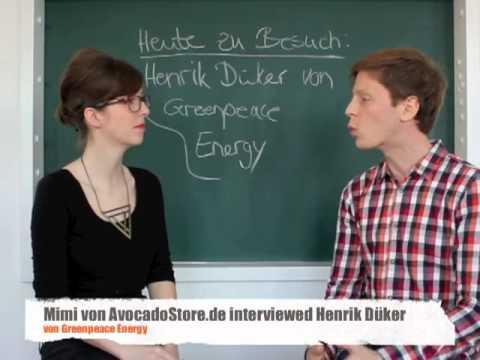 Mimi von AvocadoStore.de interviewed Henrik Düker von Greenpeace Energy