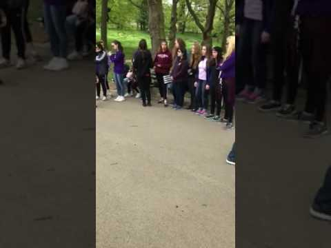 St. Catherine of Siena Academy students singing in Central Park