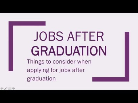 Jobs After Graduating - Top tips to consider when applying for graduate jobs