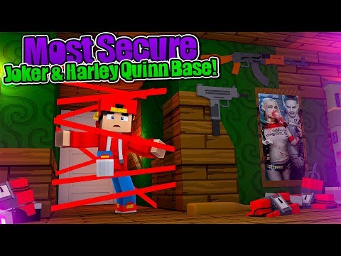 Minecraft Vs - THE MOST SECURE JOKER & HARLEY QUINN BASE CHALLENGE!!!