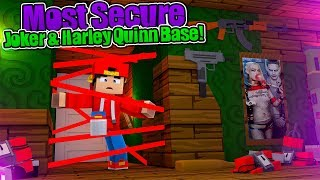 Minecraft Vs - THE MOST SECURE JOKER & HARLEY QUINN BASE CHALLENGE!!!
