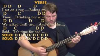 Norwegian Wood (The Beatles) Strum Guitar Cover Lesson in D with Chords/Lyrics