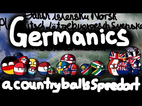 Germanic ≠ German   Germanic speaking countries!   Countryballs Speedart #17