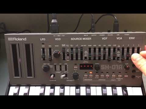 Roland Boutique SH-01A Audio Demo