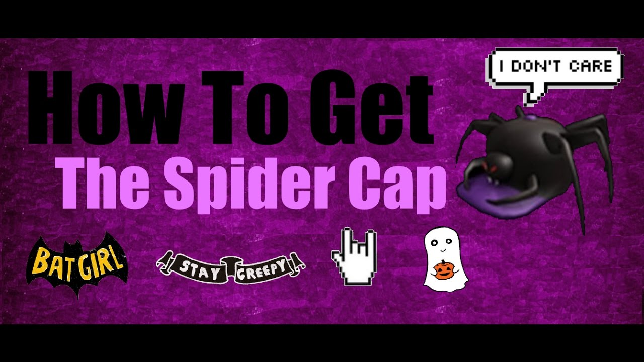 How To Get The Spider Cap : Roblox | Halloween Series