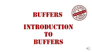 Buffers   Introduction   Calculation of pH of Buffers   Acid Base Equilibrium