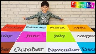 Learn Months of the Year for Children and Toddlers a Educational Video