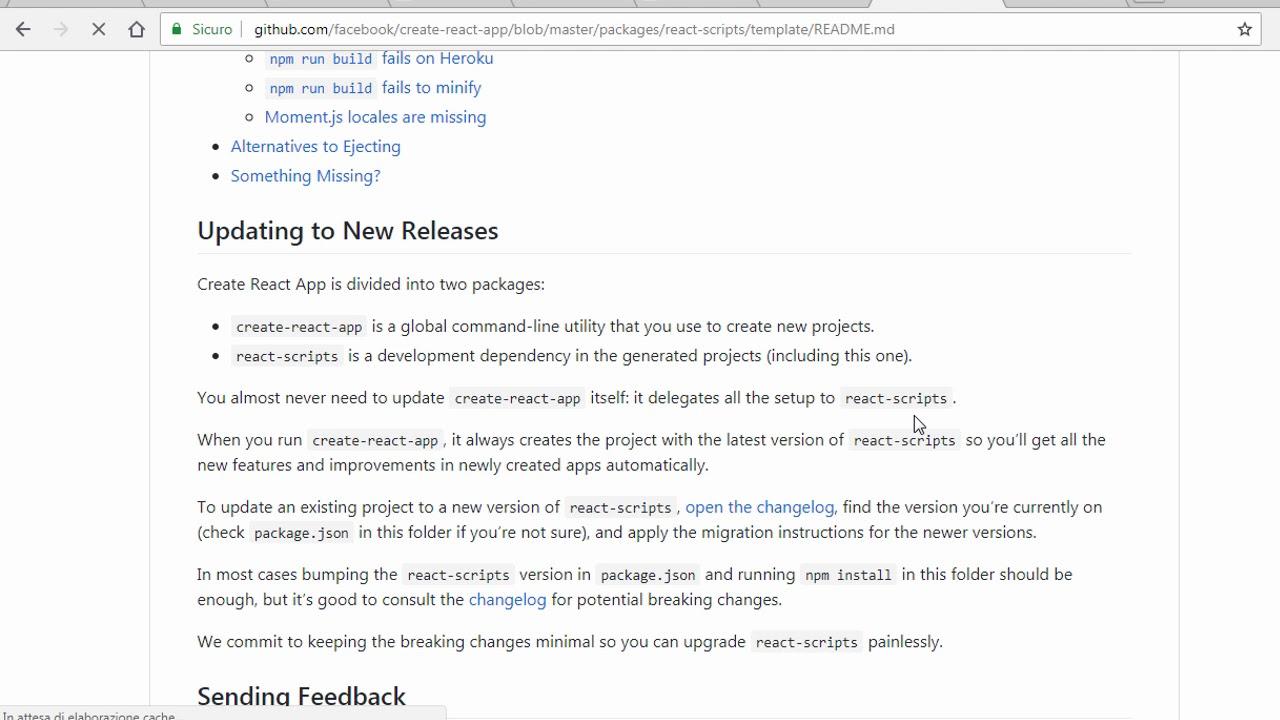 Corso ReactJs e Redux  installare create react app  ITA 02