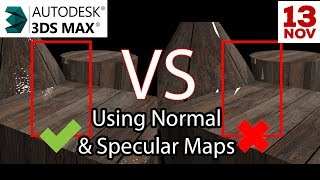 using Normal Map and Specular Map in 3ds max and Vray