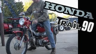 71 Honda Trail 90 CT90 First Start of the Year