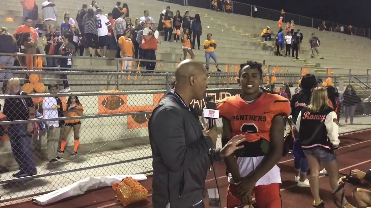 Live High School Football Syrus Collins Orange Panthers California