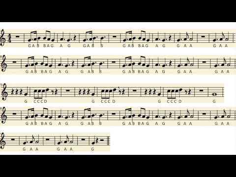 Recorder: (GABCD) Peanuts Theme, Linus and Lucy, Medium Tempo