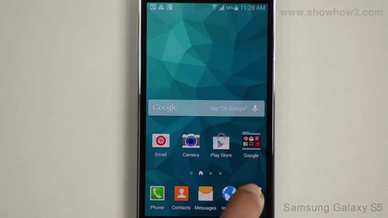 samsung galaxy s5 move an app icon across to another page