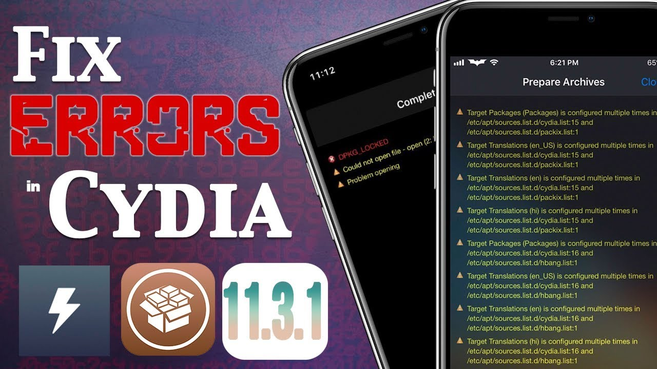 Fix Cydia Error Messages, Common Problems & Bootloop on iOS 11 3 1  Jailbreak (Electra)