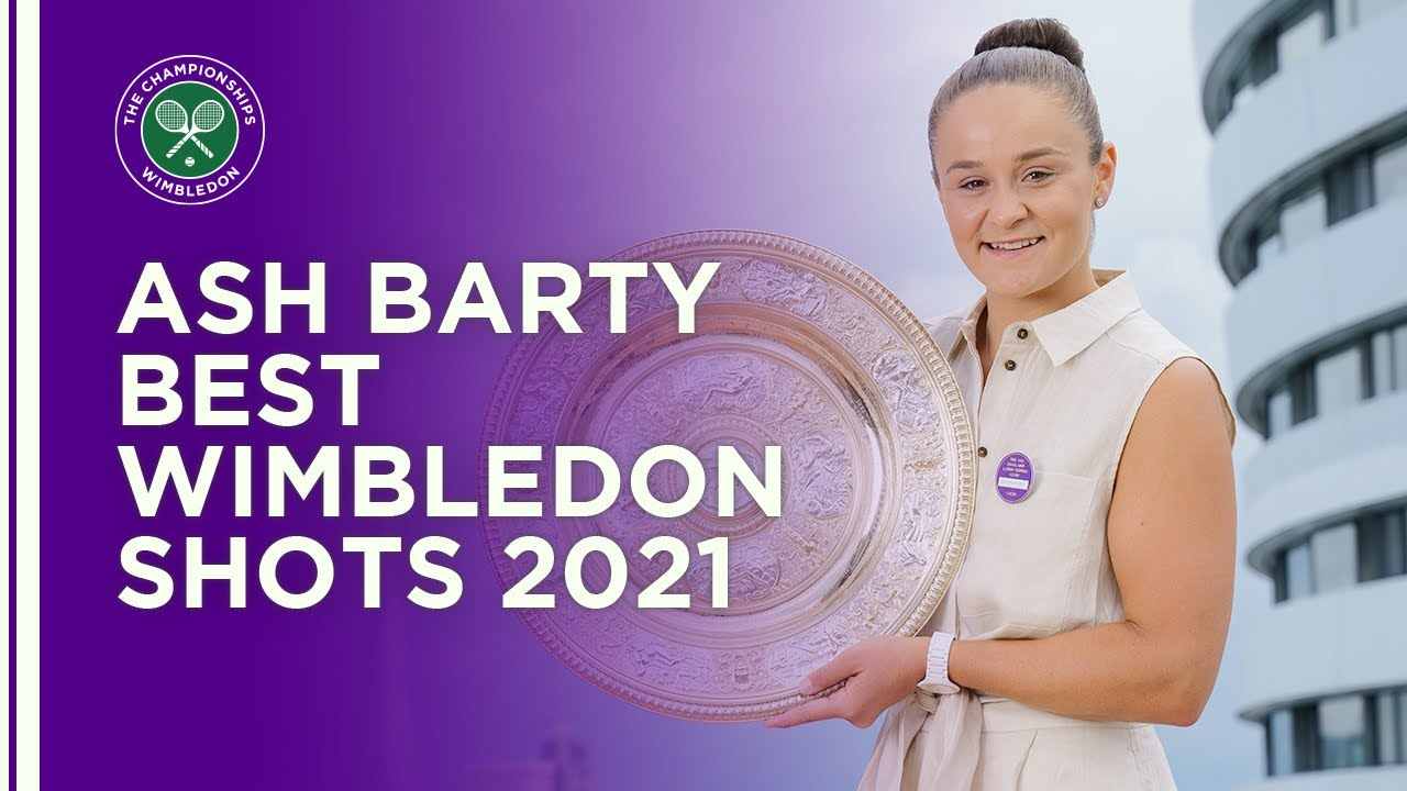 Ash Barty Best Shots Wimbledon 2021