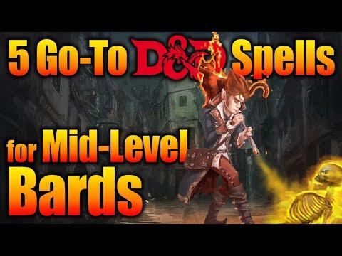 D&D Bard Spells - 5 Go to Spells for Tier 2