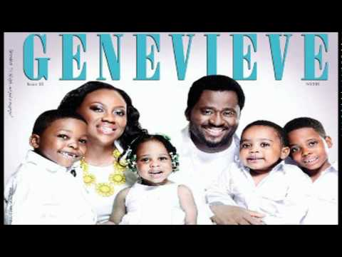 Desmond Elliot, wife & kids cover June Edition of Genevieve Magazine