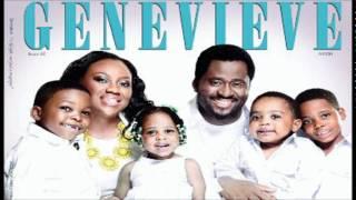 Desmond Elliot, wife & kids cover June Edition of Genevieve Magazine