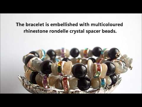 'Délice' Labradorite-Black Agate Bracelet