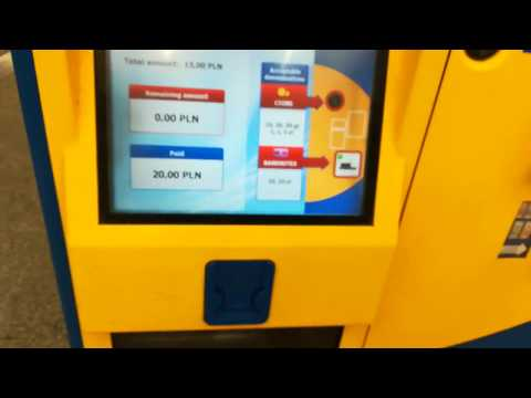 Warsaw, Poland: How to take public transport ticket from vending machine