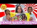 CANDY SUSHI TASTING with Tekkerz Kid and Mum | Twin Town