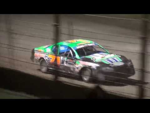 "IMCA Stock Car ""Liberty 100"" feature West Liberty Raceway 9/24/16"