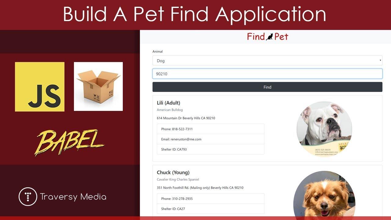 Build A Pet Find App | JS, Parcel, Babel, Fetch-JSONP