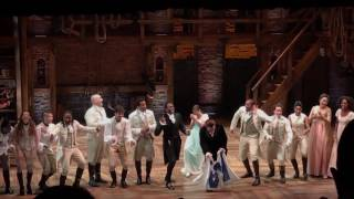 Hamilton in Chicago singing Go Cubs Go! #worldchampions #Broadway