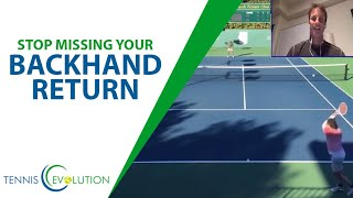 TENNIS TIP: Simple Fix To Your Backhand Return Of Serve