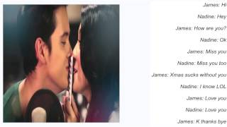 Watch James Reid Text Me Merry Christmas ft Nadine Lustre video