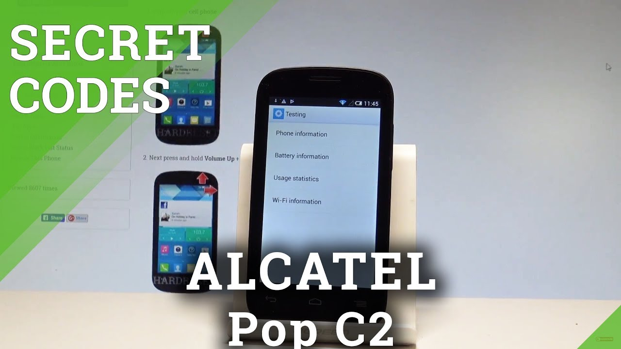 Secret Codes ALCATEL Pop C2 - Hidden Mode / Secret Options |HardReset info