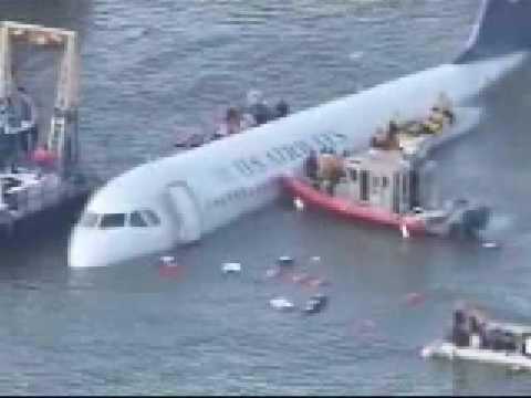 US Airways emergency landing hudson river (water)  part 1