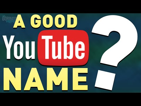 how to find a good youtube channel name