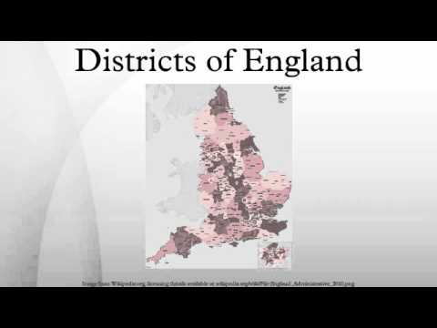 Districts of England